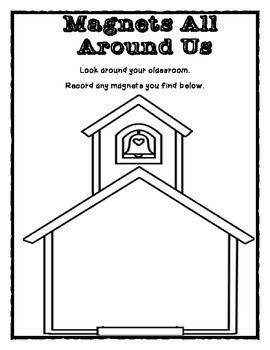K-2 Magnet Unit First Grade Worksheet/ Activities