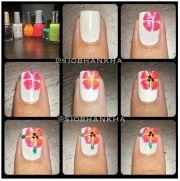 flower nail art nails