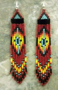 Native American Beaded Earrings |  | Pinterest ...