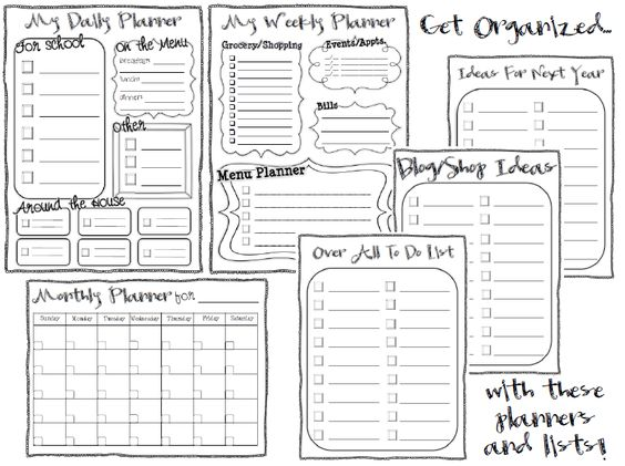 Student planner, Planner template and Planners on Pinterest