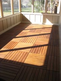 Love the floor and the screen, for that awkward back porch ...