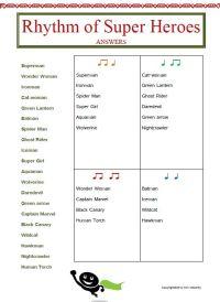 RHYTHM: 12 RHYTHM Worksheets Set 2 | Teaching, Heroes and ...