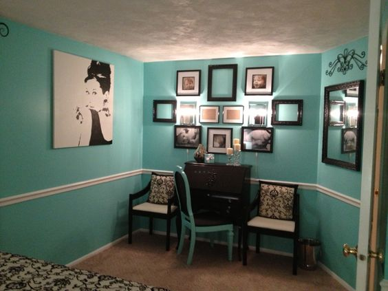Tiffany Inspired Bedroom 2  Home Projects  Decorating  Pinterest  Pink accents Tiffany
