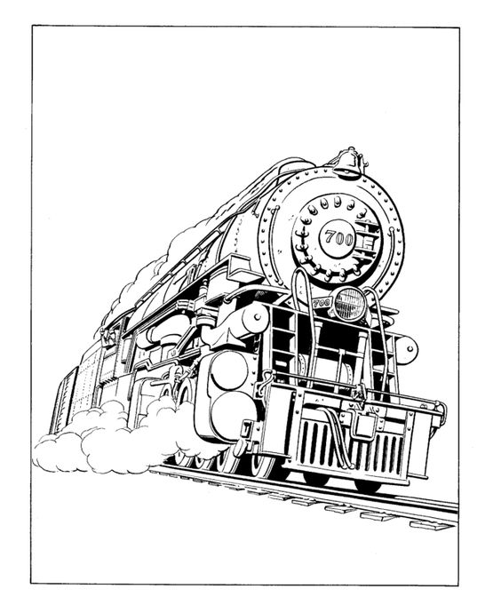 Coloring, Coloring pages and Engine on Pinterest