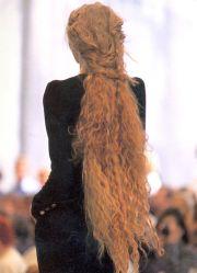 super long straight hair unusual