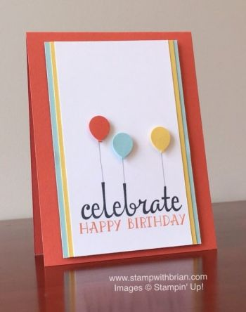 Fabulous Four, Number of Years, Stampin' Up!, Brian King, birthday card, PP282:
