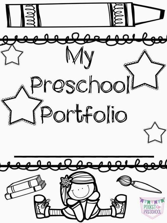 Portfolio covers for preschool, pre-k, or kindergarten