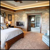 stone wall master bedrooms | faux stone wall bedroom ...