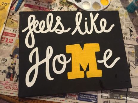 Mizzou / University of Missouri DIY canvas; feels like home: