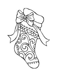 Tribal Decorated Christmas Stockings Coloring Pages ...