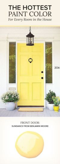Sundance by Benjamin Moore. Yellow Paint Color. Front Door ...