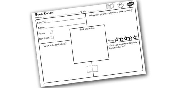 Twinkl Resources >> Book Review Worksheet >> Printable