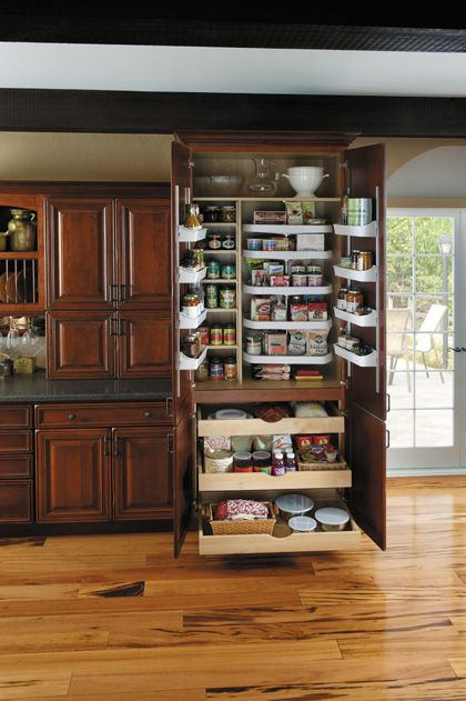 StarMark Cabinetry Super Chef Pantry. Five adjustable