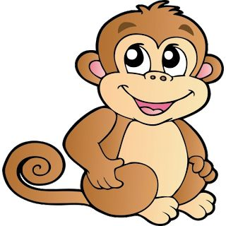 free monkey clip art cute