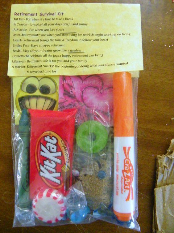 Retirement Survival Kit 10 Items Inside Novelty T