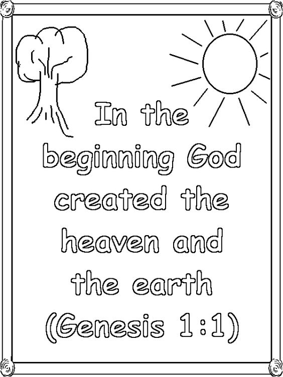 Coloring pages, Genesis 1 and Coloring on Pinterest