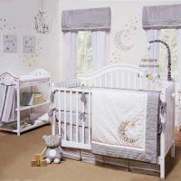 Gray & White Celestial Moon w/ Stars Baby Unisex Nursery 4