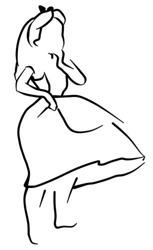 Alice outline tattoo could be done w vibrant colors