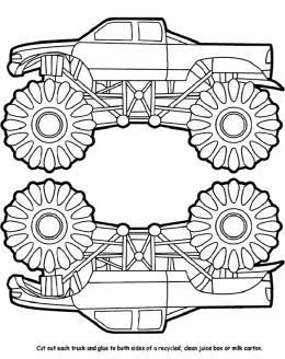 Monster Trucks Kids Coloring Pages and Free Colouring