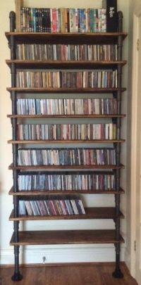 Dvd storage rack, Gas pipe and Storage racks on Pinterest