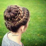 princess bun hairstyle crown