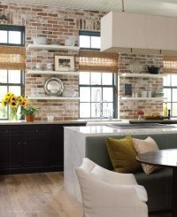 Brick accent wall in kitchen by Kevin Spearman of ...