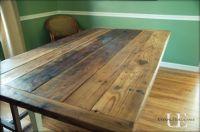 barn wood table tutorial | Farmhouse kitchen tables, Barn ...