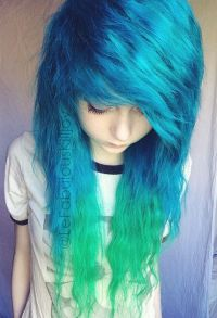 Blue and, Hair and Blue on Pinterest