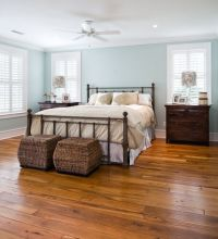 The cool coastal blue Sherwin-Williams wall paint creates ...