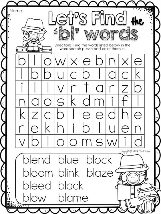 Teach the blend 'bl' with this easy to use fun and