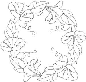 Quilters Flower 30 Larger (HDFQ30C) Embroidery Design by
