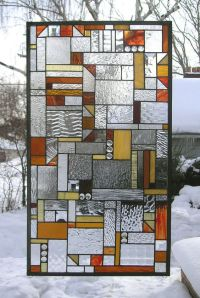 """Mission Style Geometric Clear and Warm Tones-- 18"""" x 32 ..."""