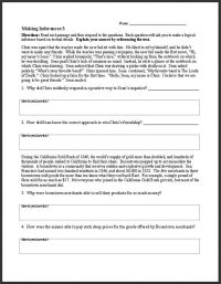 FREE ELA Worksheets and Activities~ This middle and high