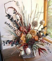 Fireplaces, Dried flowers and Flower on Pinterest