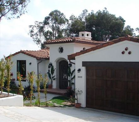 Spanish Colonial I Want This Style Garage Door And Front
