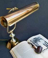 Vintage Brass Bankers Lamp - Desk Light - Task Light ...