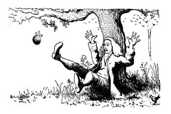 Apple Falling On Isaac Newton Coloring Page For Kids