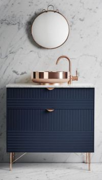 Navy, Rose Gold & Marble | BATH | Pinterest | Copper ...