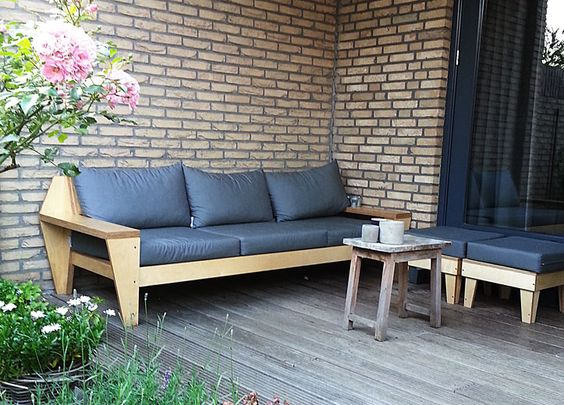 Do it yourself Outdoor Lounge handmade by Ilse