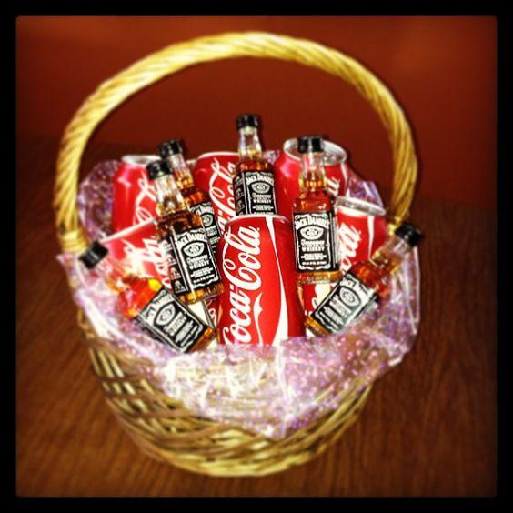Jack And Coke Basket Jack Daniels Pinterest Baskets