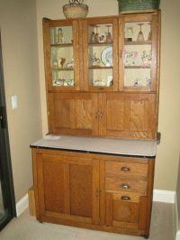 Vintage Hoosier Oak Antique Cabinet | eBay | Hoosier ...