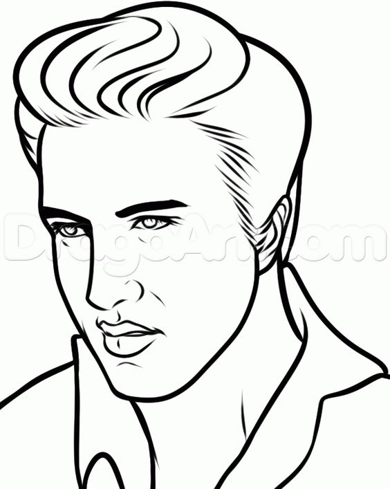 Elvis presley, To draw and How to draw on Pinterest