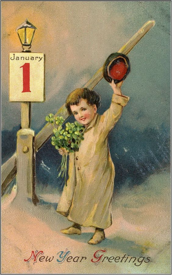 Vintage Postcards New Year Greetings And Postcards On Pinterest