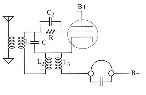 valve regenerative radio schematic