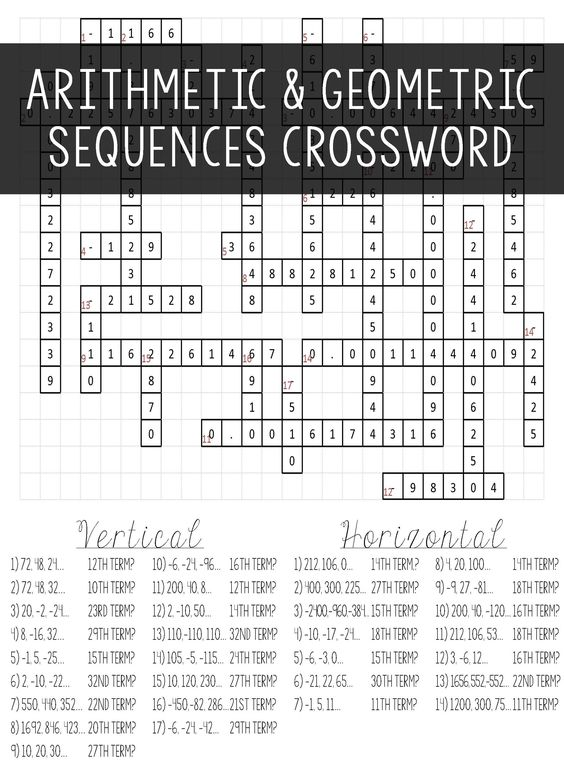 Arithmetic Sequence Worksheets For Middle School