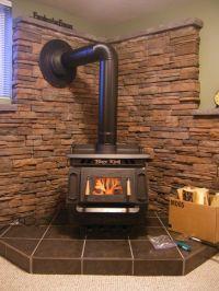 photo of Wall behind wood-burning stove from a Kodiak ...