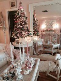 Vintage Pink Shabby Chic Living room. | Merry Christmas ...