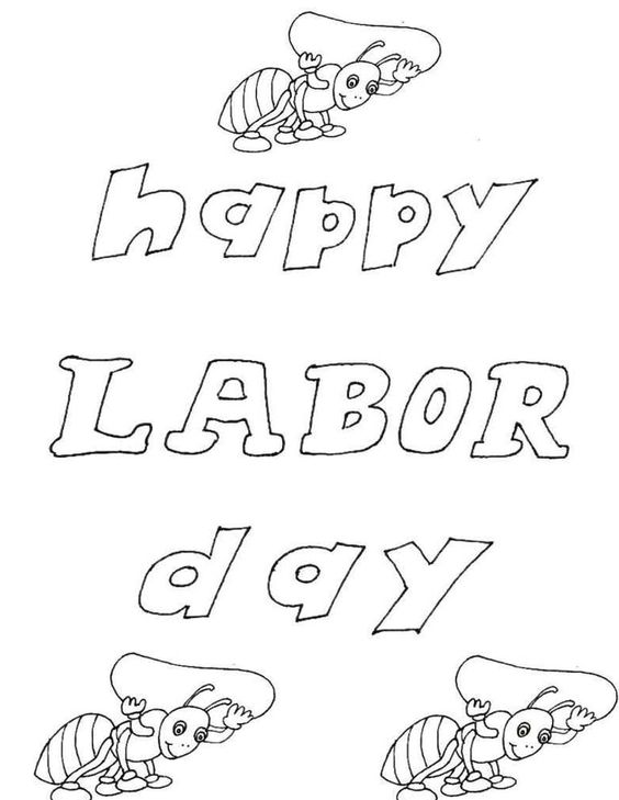 Labor Day 2014 Printable Cards For Kids, Children, Toddler