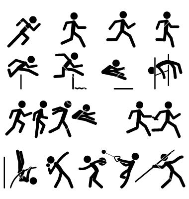 Sport pictogram icon set 02 track and field vector 1000098