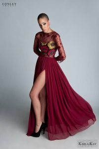 Kaela Kay Fall/Winter 2013 African Print Evening Gown